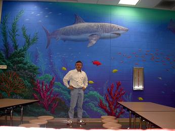 Underwater murals beach murals joe mckinney murals for Mural joe painting